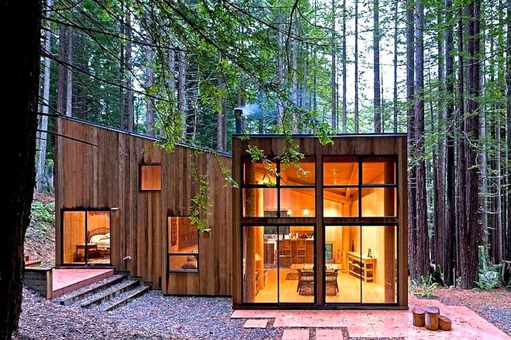 Dise o de casa de campo fachada e interiores - Diseno casa de madera ...