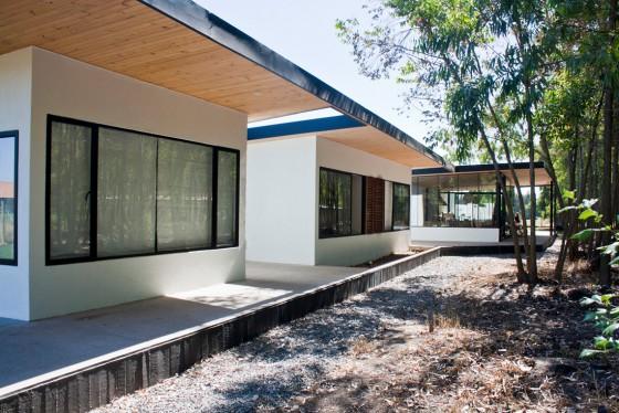Diseño de casa de campo de un piso grande
