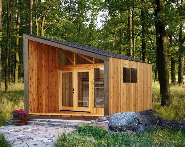 Dise o de casa muy peque a de madera construye hogar - Casas de madera pequenas ...