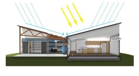 Diseño de casa sustentable ventilación e iluminación
