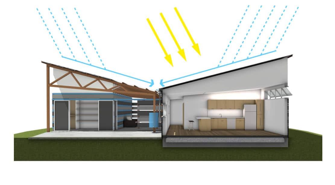 Dise o de casa sustentable con planos for Construccion de casas bioclimaticas