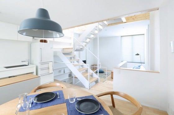 Diseño de cocina comedor de casa prefabricada