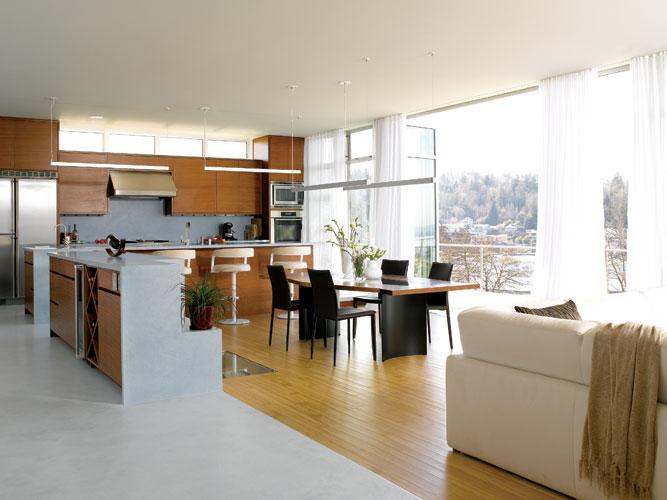 Planos de casa de dos pisos moderna fachadas - Cocinas con isla y comedor ...