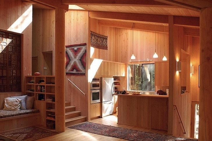Dise o de casa de campo fachada e interiores construye for Cocinas para casas de campo
