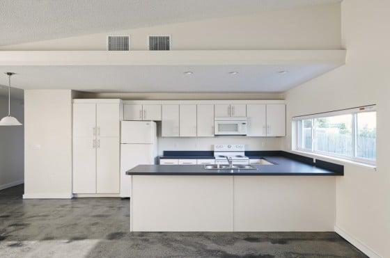 Diseño de cocina de casa sustentable