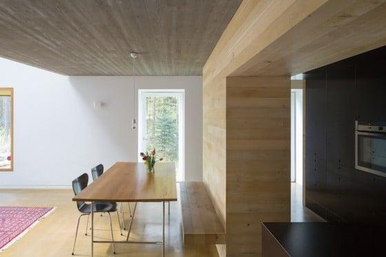 Diseño de comedor de casa de campo