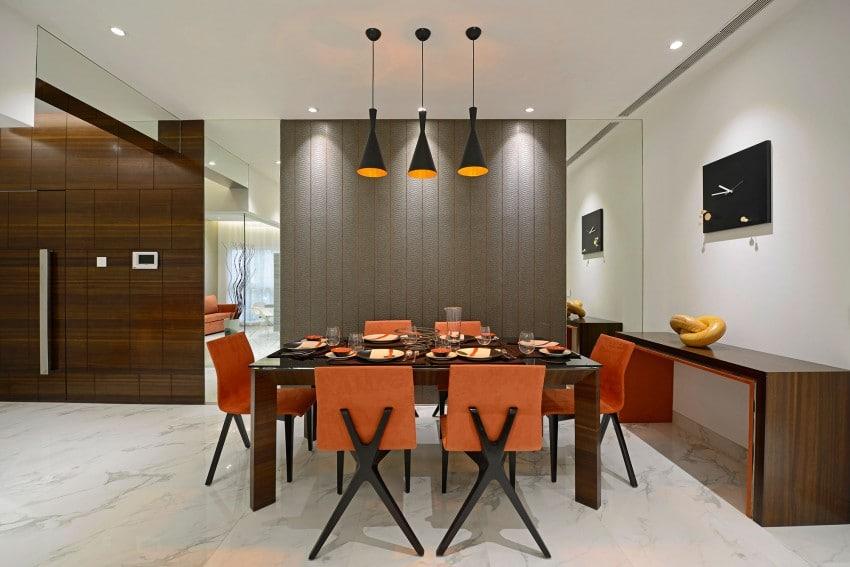 Plano y dise o de interiores departamento for Diseno de comedores modernos