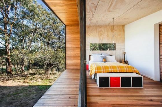 Diseño de dormitorio de casa de campo