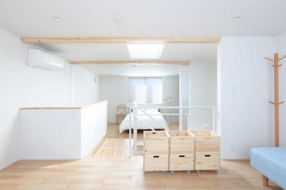 Diseño de pequeño dormitorio de casa prefabricada