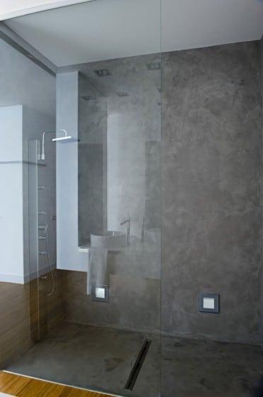 Diseño de ducha cuadrada