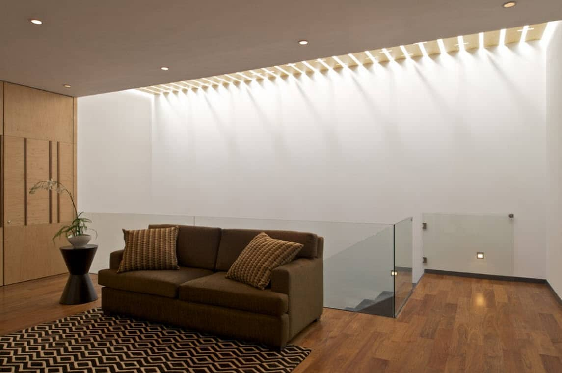 pisos de concreto sala de estar Diseo De Planos De Casa De Dos Plantas