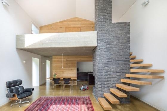 Diseño de interiores de casa moderna de campo