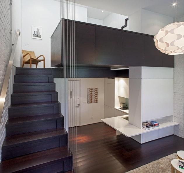Dise o de mini departamento moderno construye hogar for Diseno interior de apartamentos pequenos