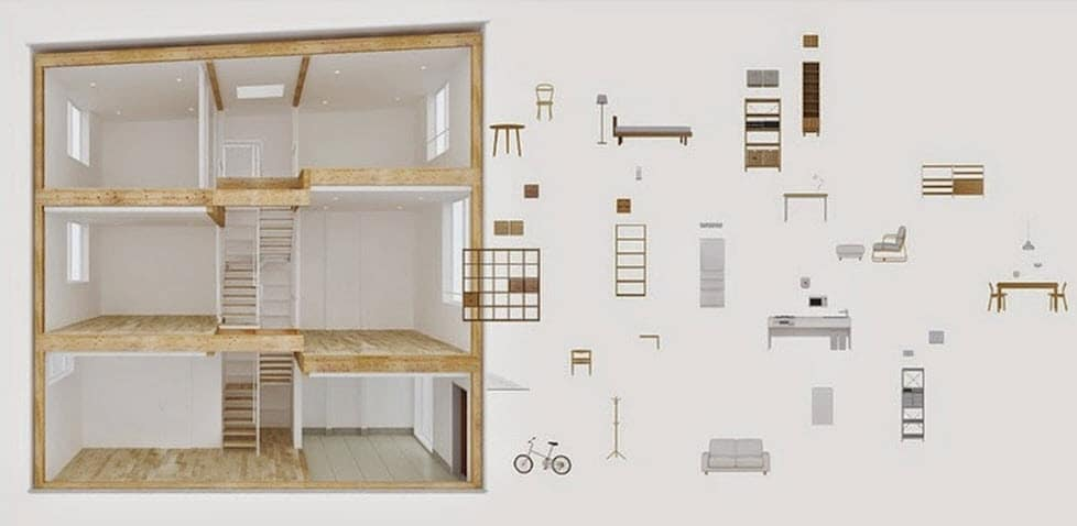 Dise o de casa prefabricada de madera construye hogar for Maquetas de apartamentos modernos