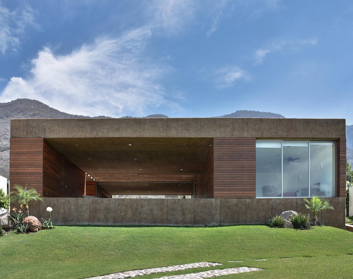 Dise o de casa cuadrada con planos y fachadas construye for Casa moderna hormigon