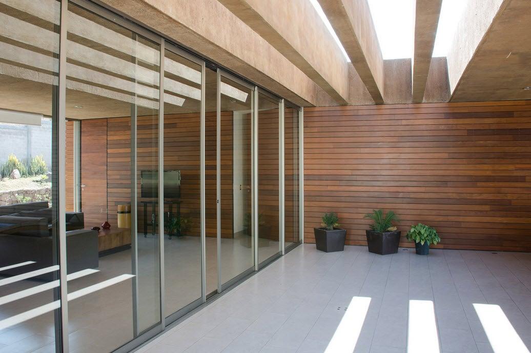 Dise o de casa cuadrada con planos y fachadas construye for Viviendas sobre terrazas