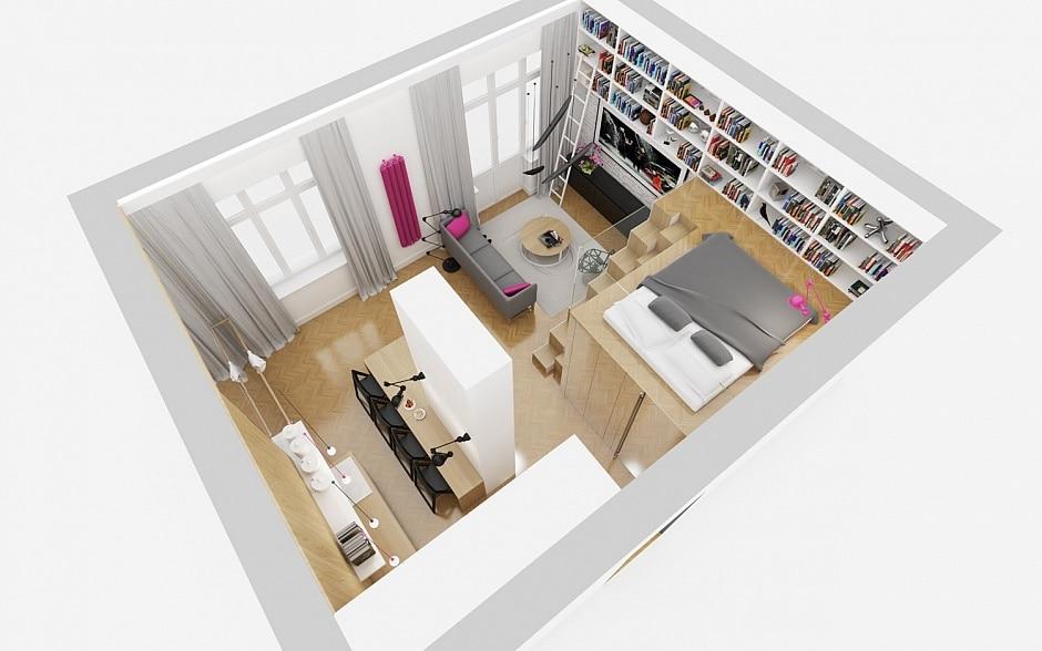Planos de departamento peque o y cuadrado construye hogar for Diseno minidepartamento