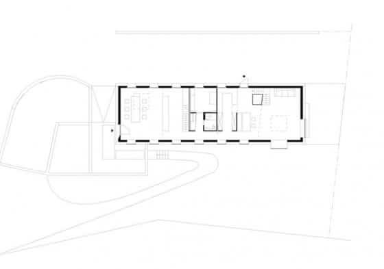 Plano de casa de campo pequeña