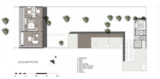 Plano de casa en terreno grande - Segundo Piso