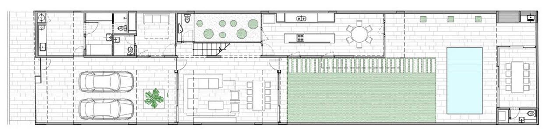 Planos de casa de dos pisos fachada segura construye hogar - Casas estrechas y largas ...