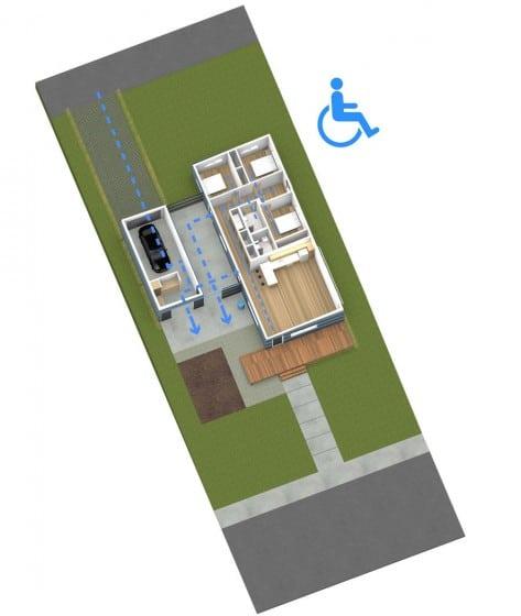 Plano de casa para discapacitados