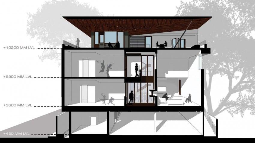Dise o de planos de casa de tres pisos for Casa de tres plantas sylvanian
