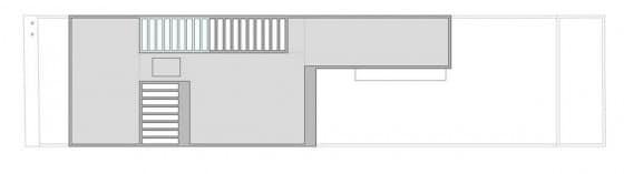 Plano de techo de casa de dos pisos