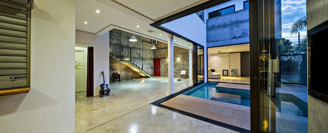 Planos de casa de dos pisos de hormig n for Estilo de la casa interior