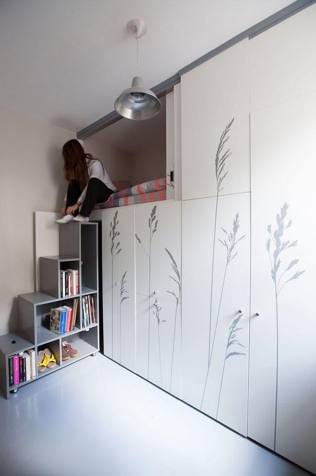 Dise o de departamento muy peque o planos construye hogar - Amenagement chambre de bonne ...