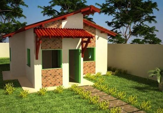 Diseño de cabaña pequeña de campo de 52 m²