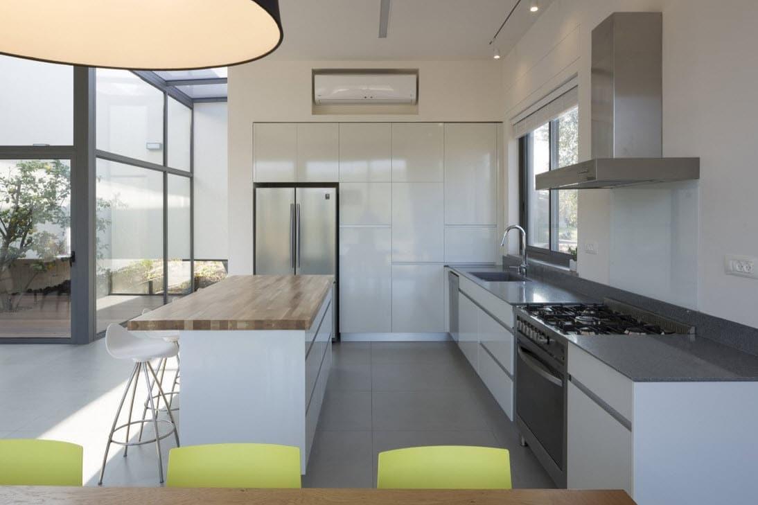 Plano de casa cuadrada de un piso construye hogar for Plano cocina con isla