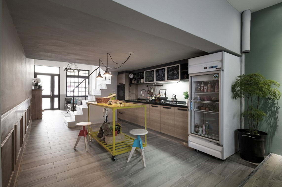 Planos de casa angosta y larga de tres dormitorios for Cocinas angostas