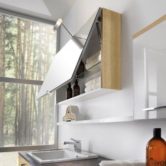 Diseño de espejo de estante para cuarto de baño