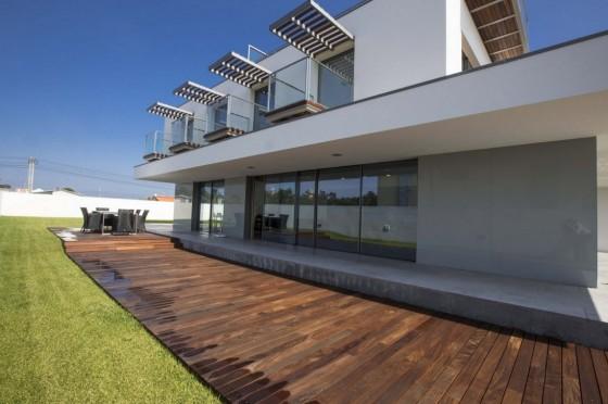Diseño de fachada de casa moderna