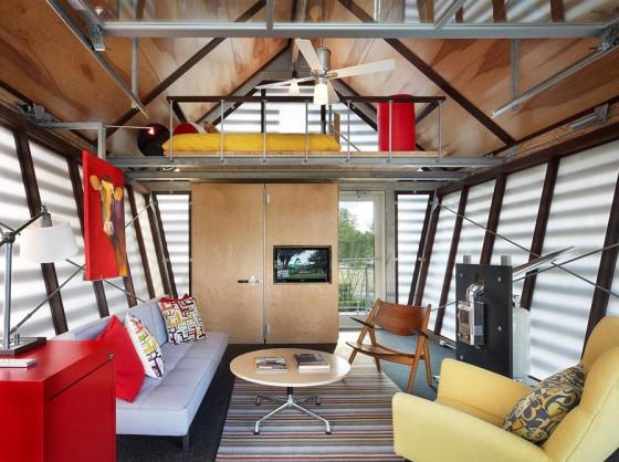 Diseño de interiores de casa  pequeña de campo