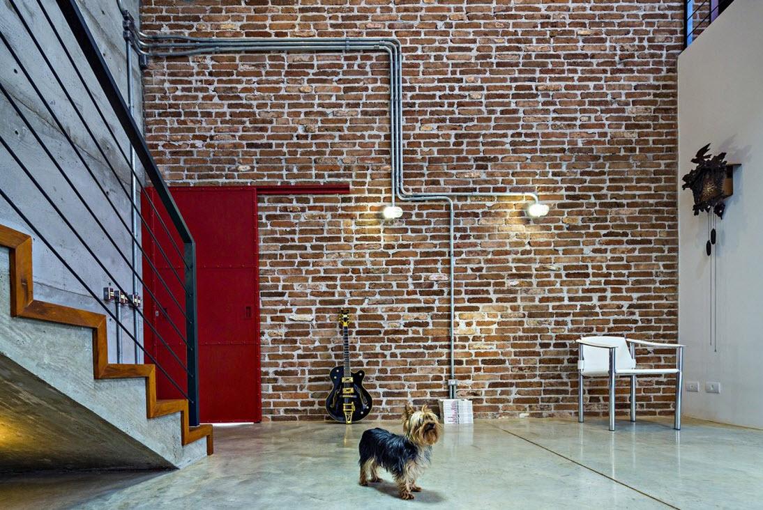 Planos de casa de dos pisos de hormig n for Diseno de apartamentos industriales