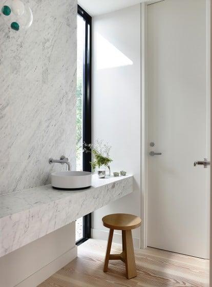 Diseño de lavatorio circular de cuarto de baño