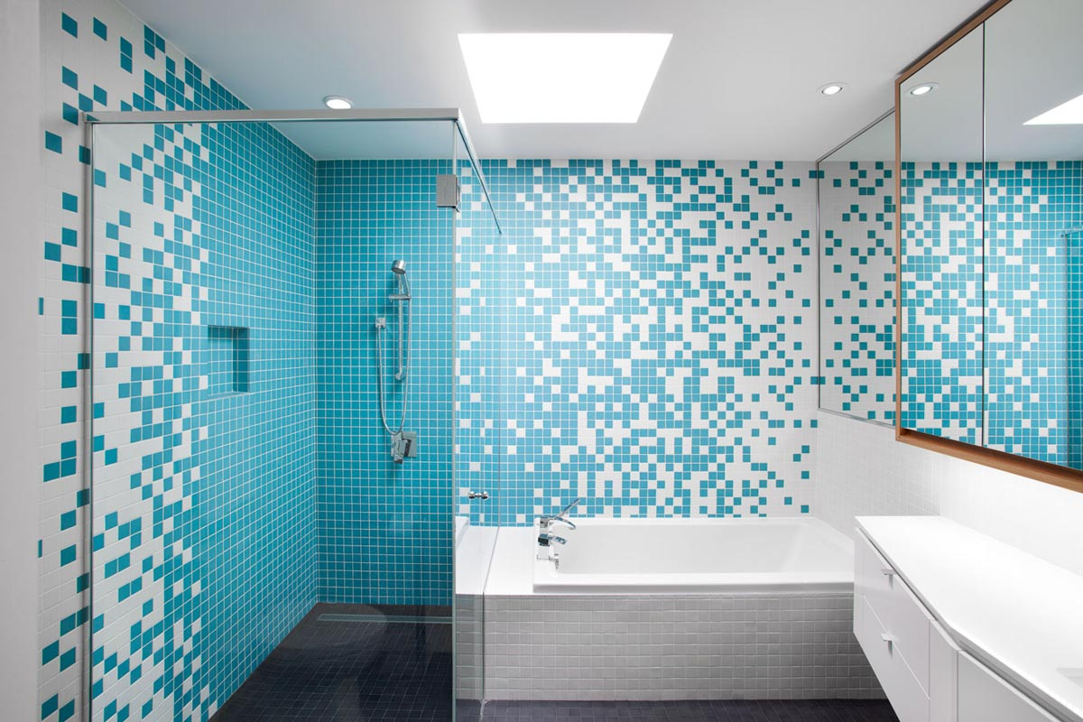 blue bathroom tiles design remodelaci 243 n de casa peque 241 a de dos plantas 17453
