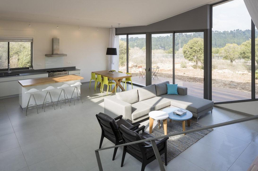 Plano de casa cuadrada de un piso construye hogar for Pisos para sala comedor y cocina