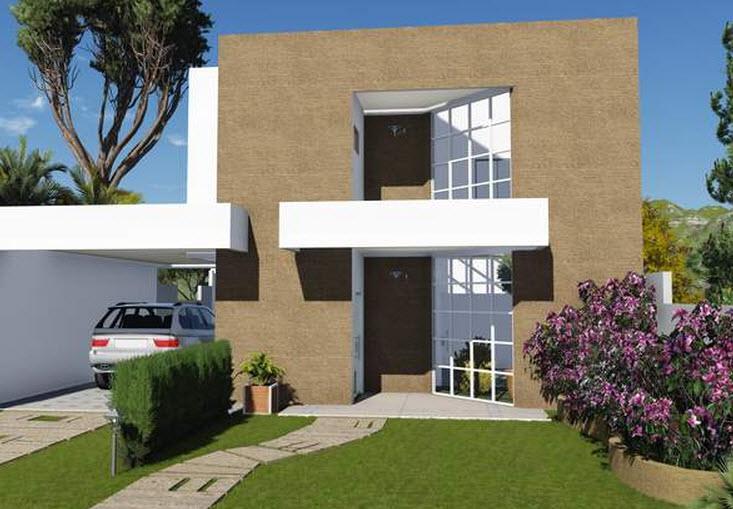 Casas de dos pisos y tres dormitorios Fachadas para casas de dos plantas