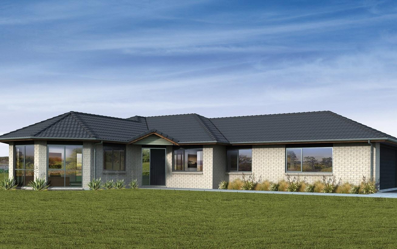 Planos de casas de un piso y tres dormitorios construye for Los mejores techos de casas