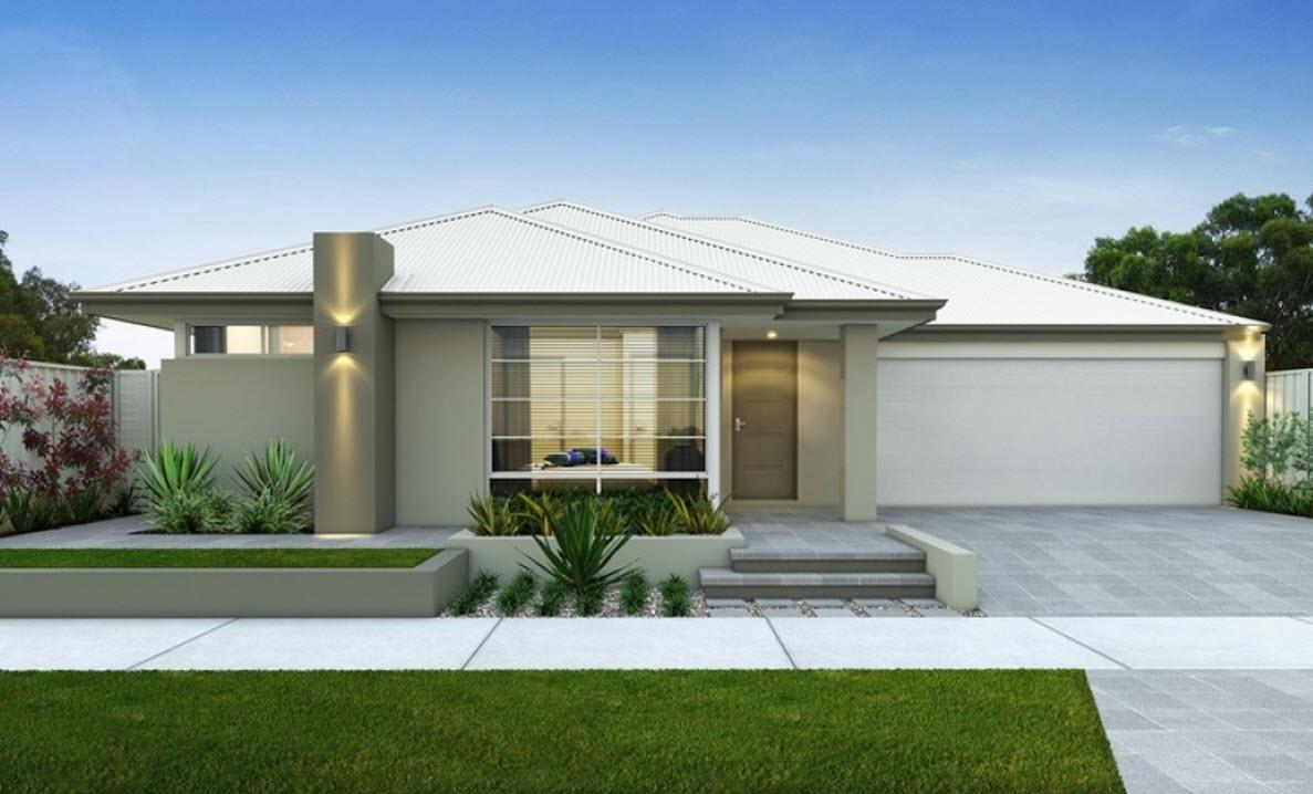 Planos de casas de un piso y tres dormitorios construye for Casa moderna blanca