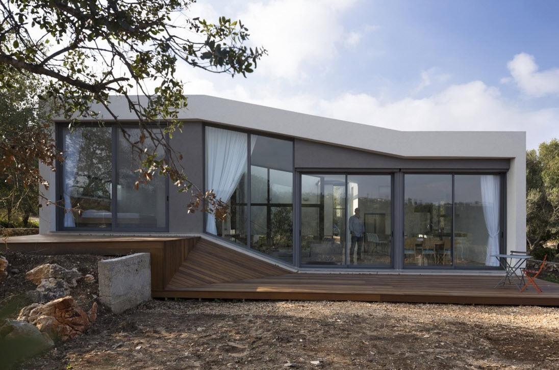Plano de casa cuadrada de un piso for Ventanas para techos planos argentina