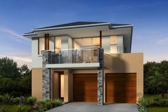Casas de dos pisos y tres dormitorios for Fachada de casas modernas con balcon