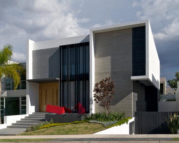 Casas de dos pisos y tres dormitorios construye hogar for Casas contemporaneas en esquina