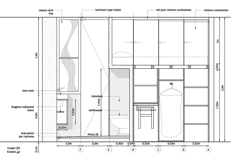 Dise o de departamento muy peque o planos construye hogar for Medidas estandar de cajones de cocina