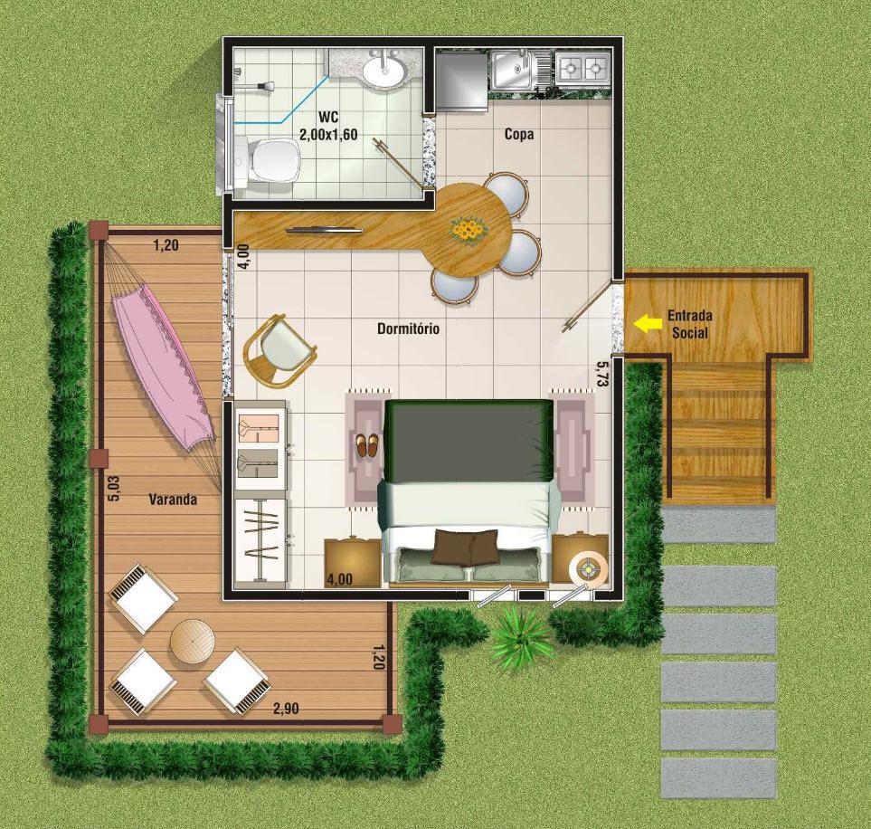 planos de casas pequenas en el campo