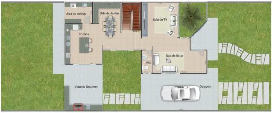 planos de casas de dos pisos tres habitaciones