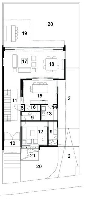 Casas de dos pisos y tres dormitorios - Planos de casas pareadas ...