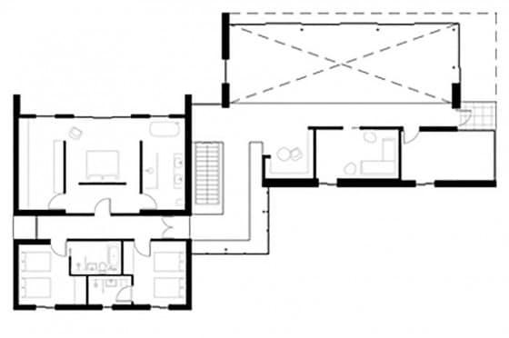 Plano de casa de dos plantas 2